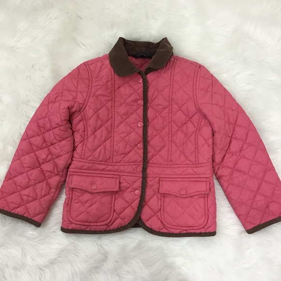 5ba2d01a Tommy Hilfiger Jackets & Coats | Girls Quilted Light Jacket Coral ...